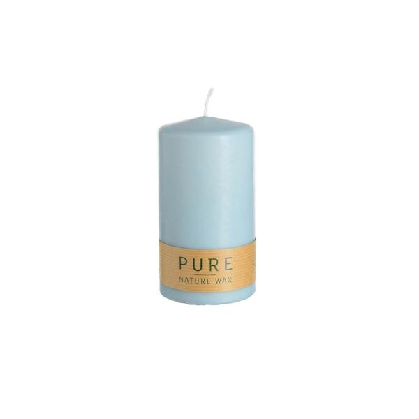 Stumpenkerze Pure, hellblau