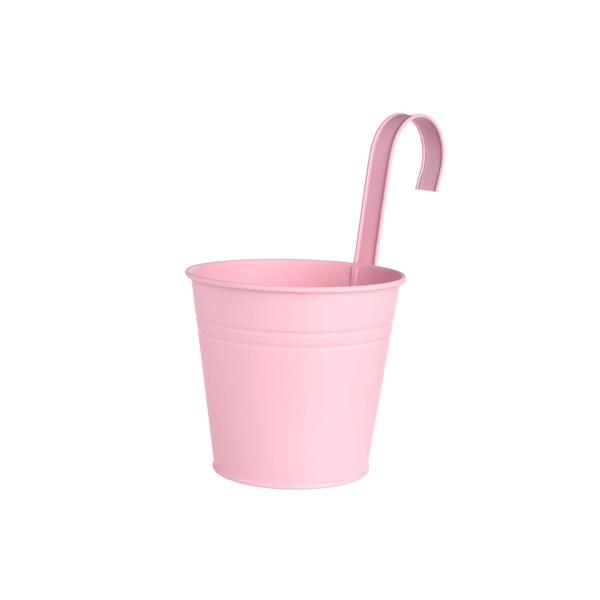Übertopf aus Metall zum Hängen, rosa