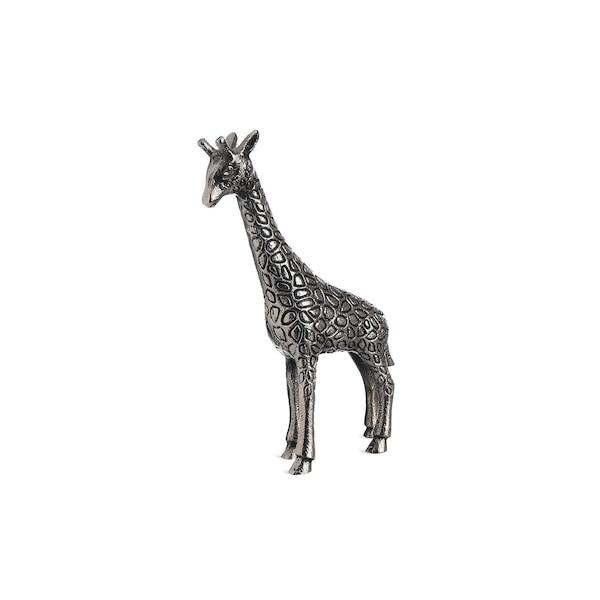 Dekofigur Giraffe, silber