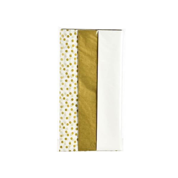 Seidenpapier, 12 Blatt, gold