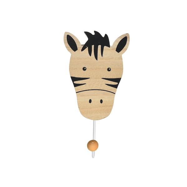 Kleiderhaken Zebra, natur