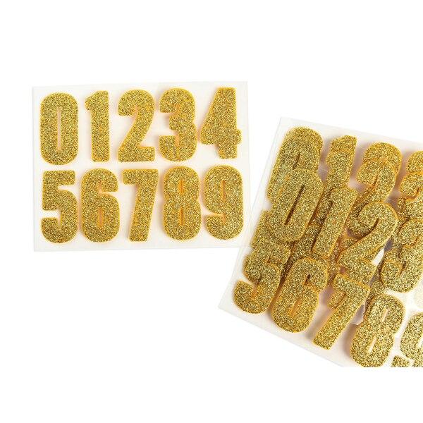 Sticker Zahlen, 40-teilig, gold
