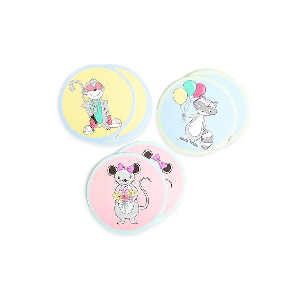 Coaster/Glasabdeckung Kids, bunt