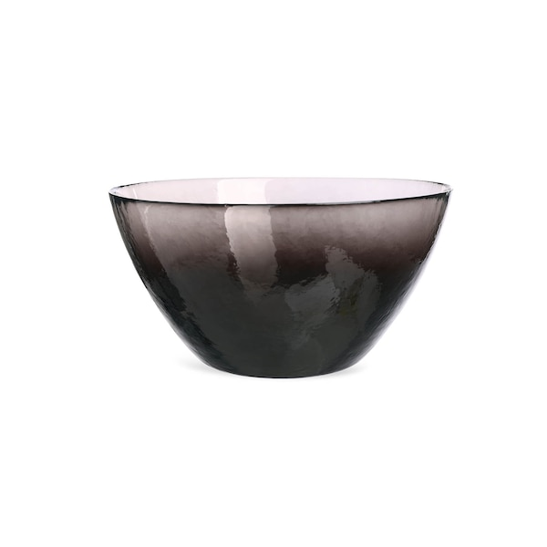 Salatschüssel aus Glas, schwarz