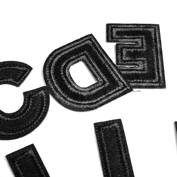 Bügelbilder Alphabet, schwarz
