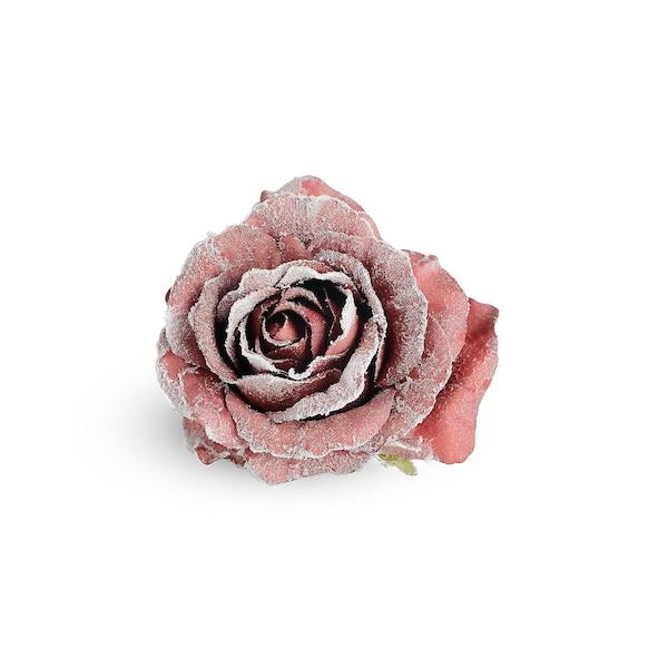 Blüte Rose auf Clip, bordeaux