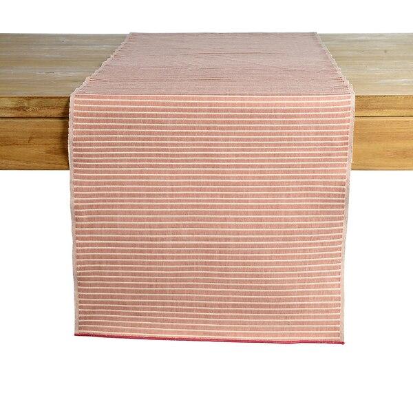 Chemin de table Modern Rib, rose