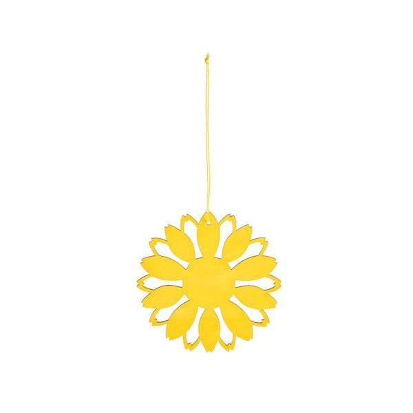 Anhänger Blume, gelb