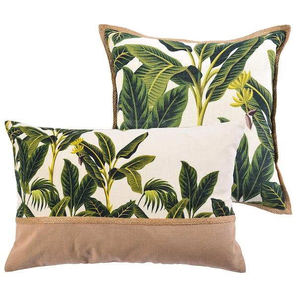Set Kissenhülle Jungle, 2-teilig, grün