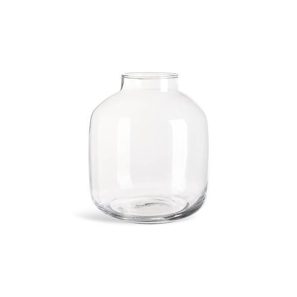 Vase Bottle aus Glas, klar