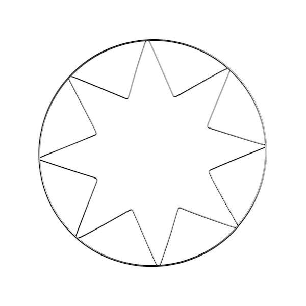 Metallring Stern, silber