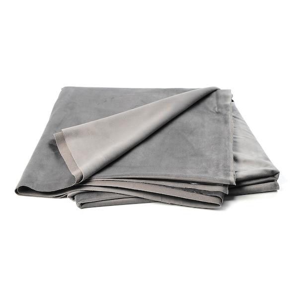 Samt-Dekostoff, grau