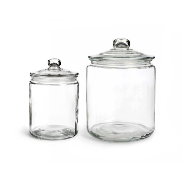 Küchenset Vorratsglas, 2-teilig, ohne Farbe