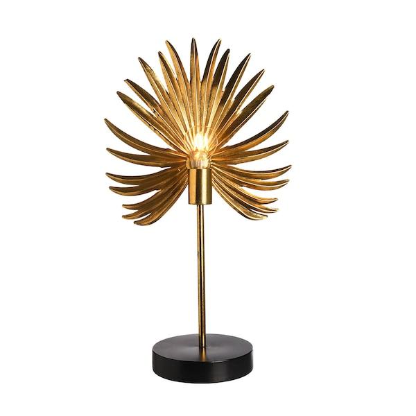 Tischleuchte Palmenblatt, gold