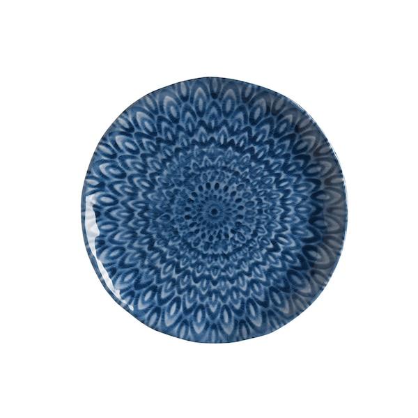 Picknick-Teller Mandala, blau
