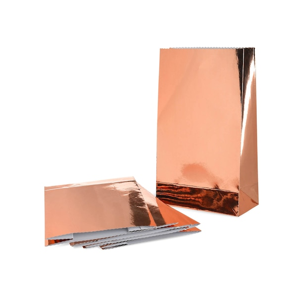 Geschenktüten-Set Metallic, roségold