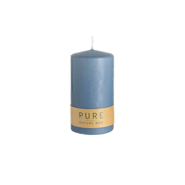 Stumpenkerze Pure, blau