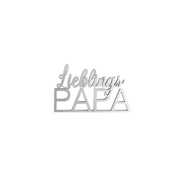 Schriftzug Lieblings Papa, silber