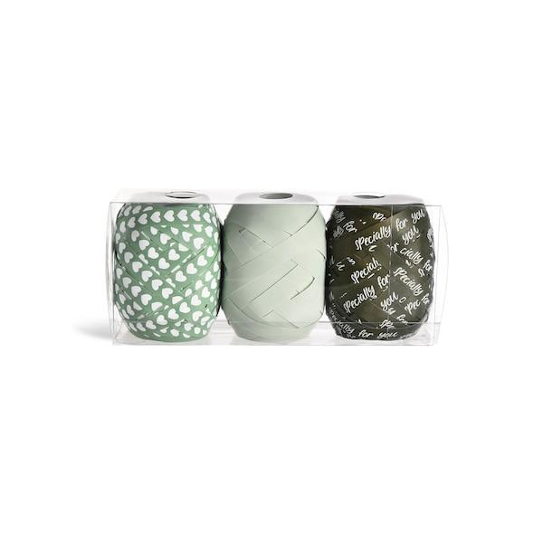 Ruban cadeau Specially, lot de 3, vert menthe
