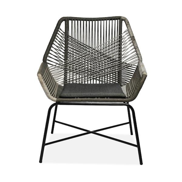 Outdoor-Sessel Rope, zweifarbig, grau
