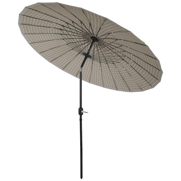 Sonnenschirm mit Knickfunktion, beige