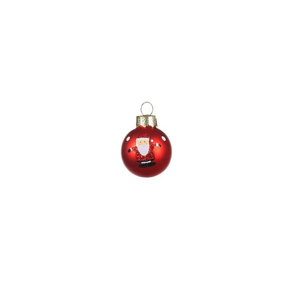 Mini-Weihnachtskugel Santa, rot