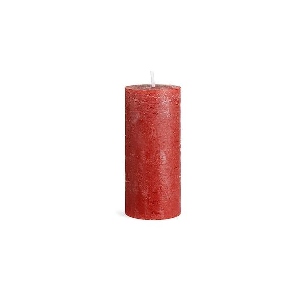 Bougie pilier Rustic, bordeaux