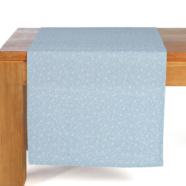 Tischläufer Blümchen, hellblau