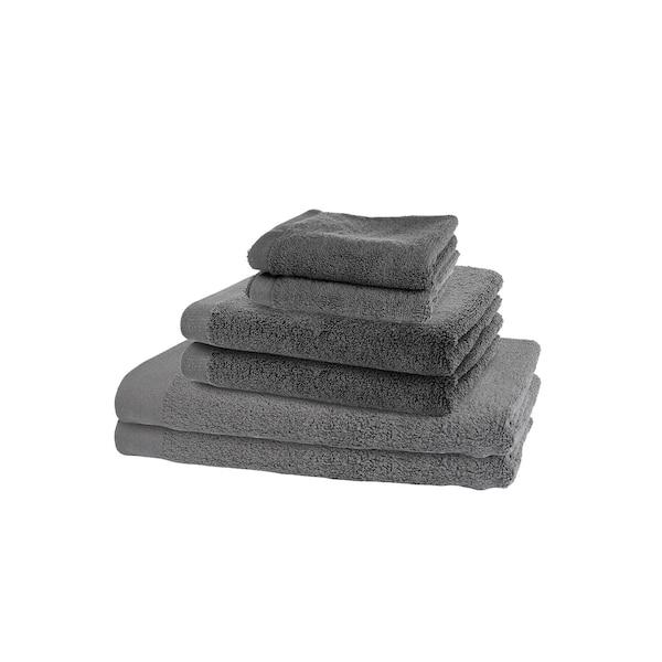 Handtücher-Set Pure, 6-teilig, dunkelgrau