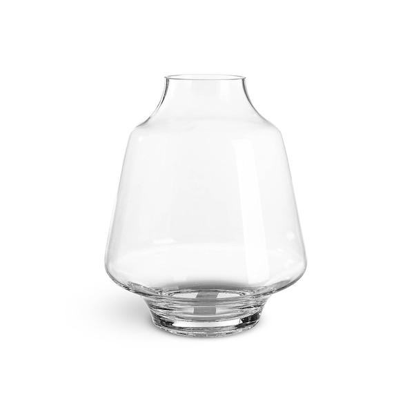 Vase aus Glas, bauchig, klar