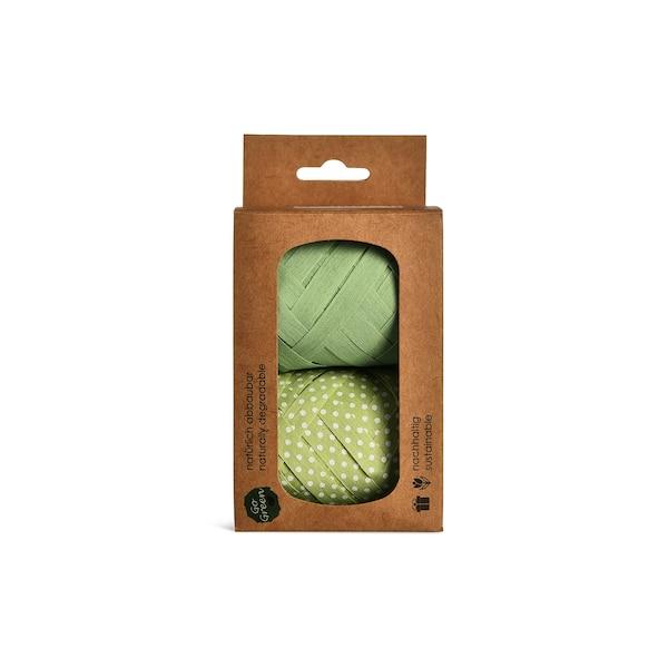 Eiknäuel Go Green Dots, 2er-Set, grün