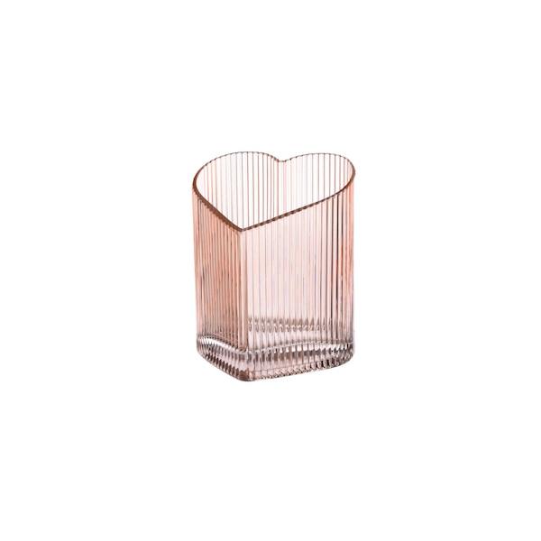 Vase aus Glas, Herz, nude