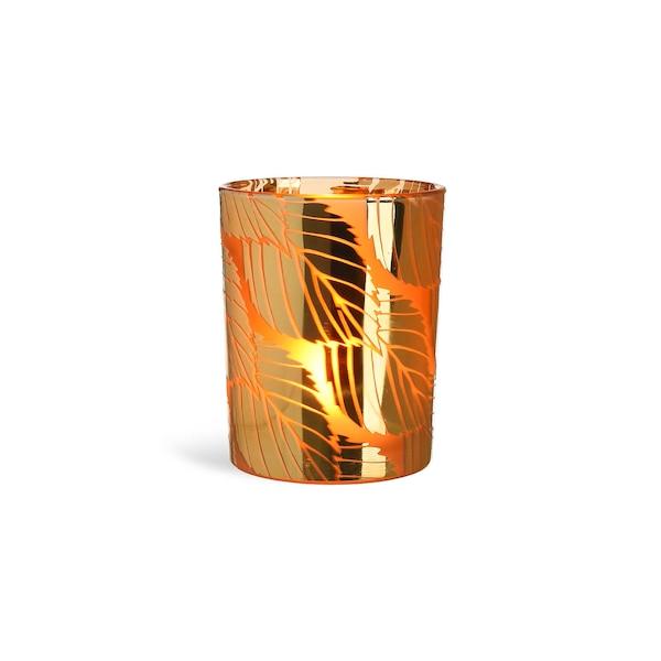 Windlicht Goldblatt, gold