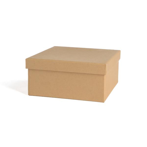 Kraftpapier-Geschenkbox, natur
