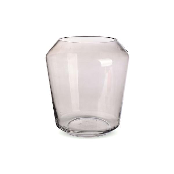 Vase aus Glas, grau