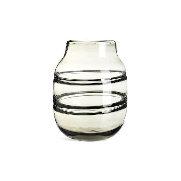 Vase Streifen aus Glas, grau