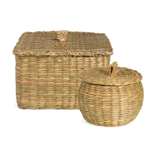 Set Korb Seegras, 2-teilig, natur