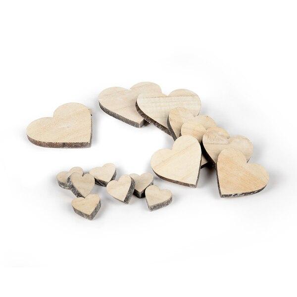 Articles à parsemer cœurs, naturel
