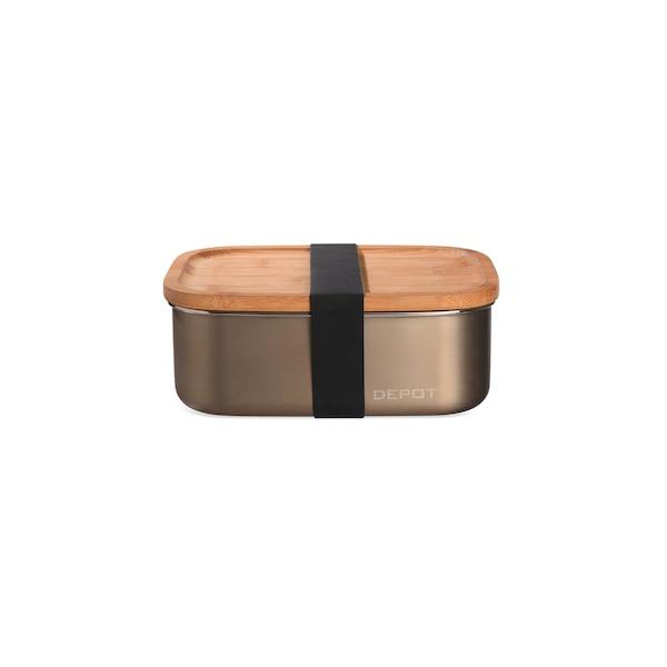 Lunchbox mit Deckel, platin