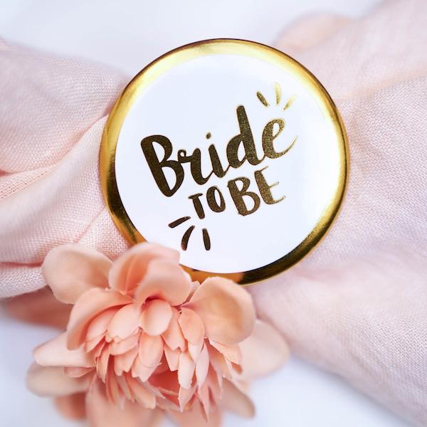 Ansteckbutton Bride, weiß