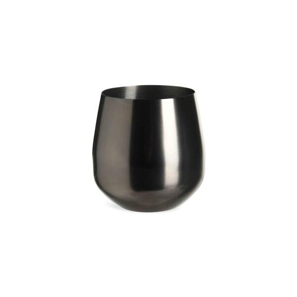 Becher aus Edelstahl, schwarz