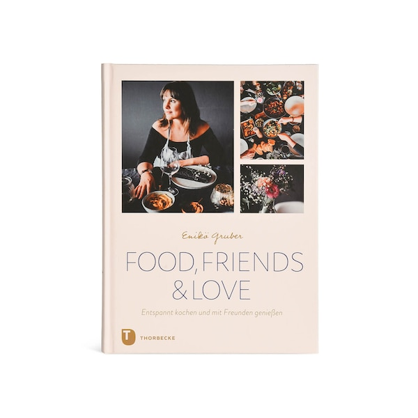 Buch Food, Friends and Love, ohne Farbe