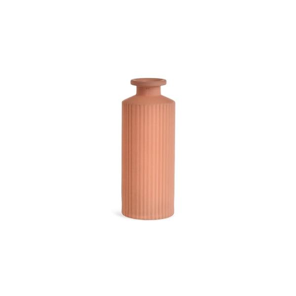 Vase Minibottle Stripe , hellrosa