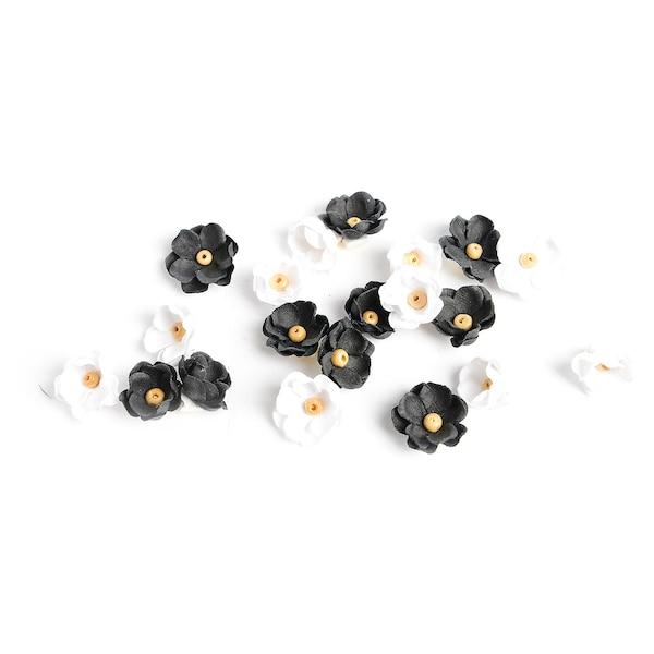 Sticker Blümchen, schwarz
