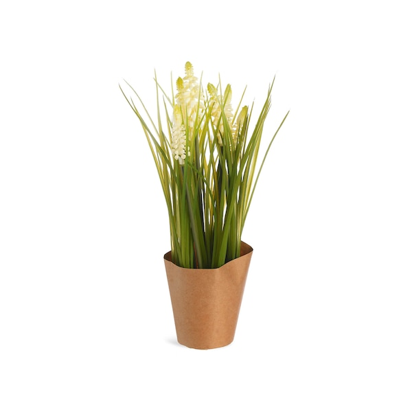 Kunstpflanze Muskari im Topf, creme