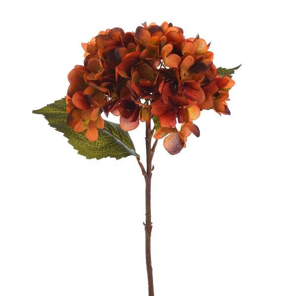 Kunststielblume Hortensie, rot