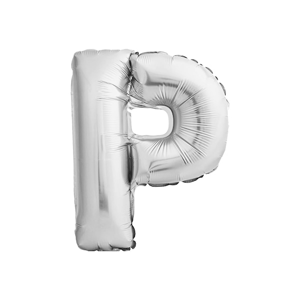 Folienballon Buchstabe P, silber