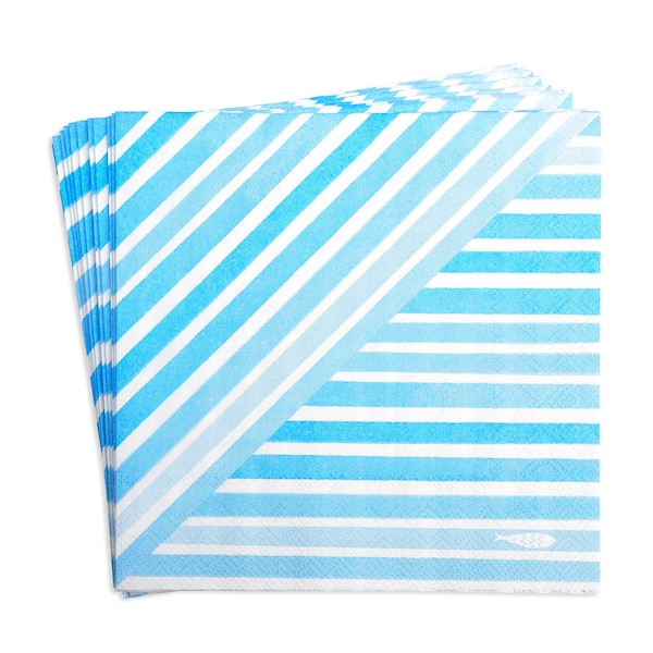 Serviette Stripefish, blau