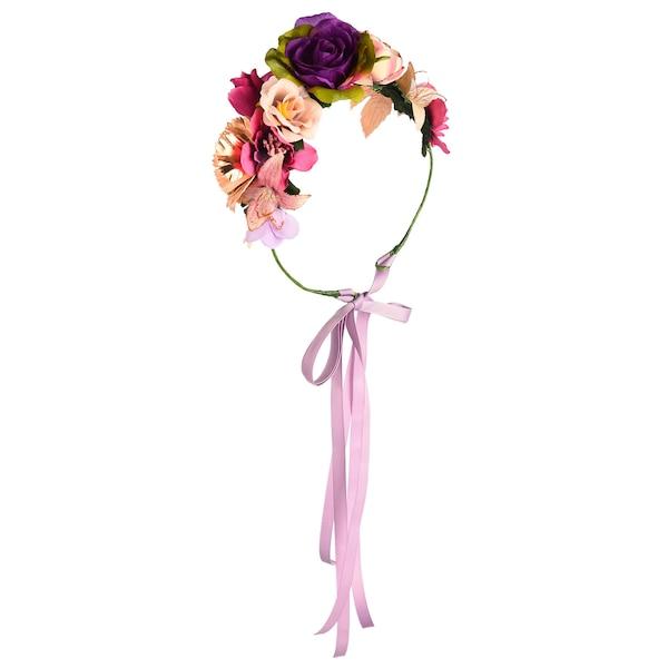 Haarkranz Blüten, bunt