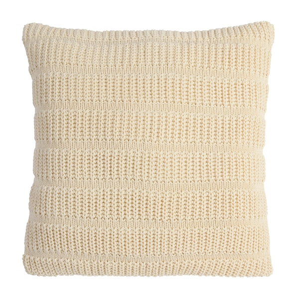 Kissenhülle Knitted Stripe, creme